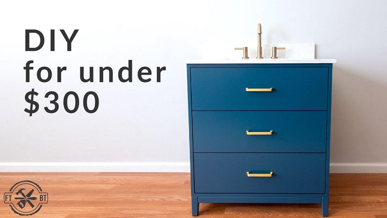 Build a DIY plywood bathroom vanity for under $300.