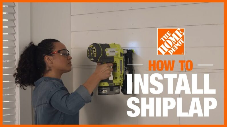 How to Install Shiplap | The Home Depot