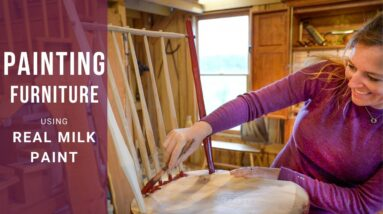 How to Paint Furniture with Real Milk Paint