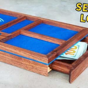 Making a Valet Tray with Hidden Drawer & Wireless Charger